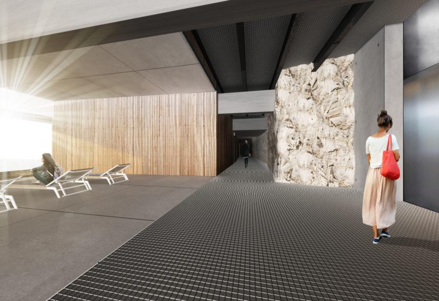 Concours Evolo - Riaux Marseille coursive intérieure - Mind Architecture