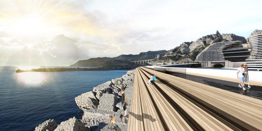 Concours Evolo - Riaux Marseille aménagement digue - Mind Architecture