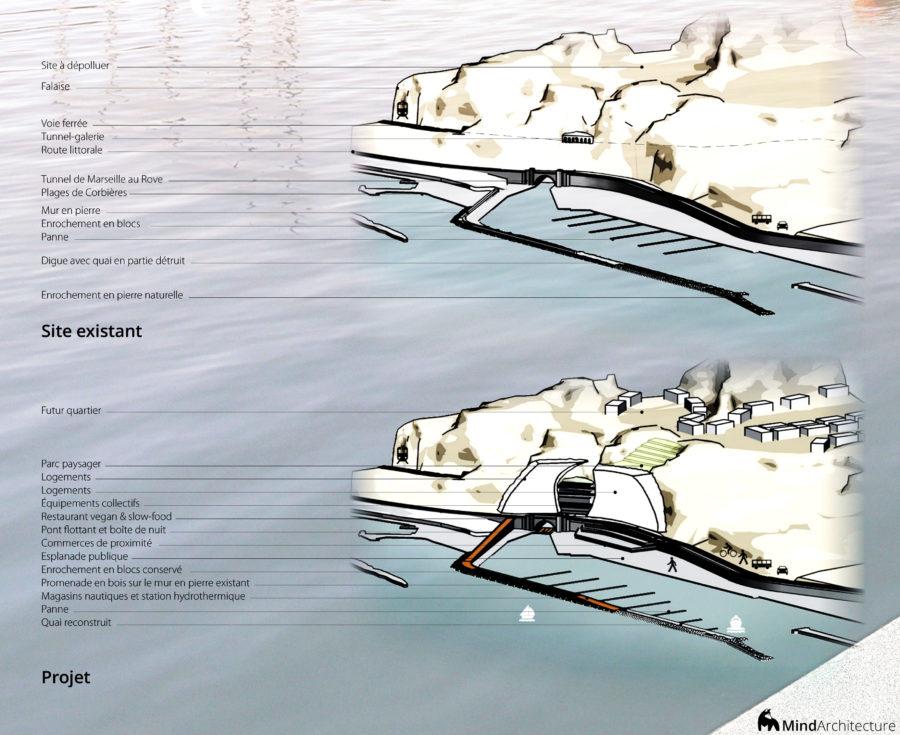 Concours Evolo - Riaux Marseille schema - Mind Architecture