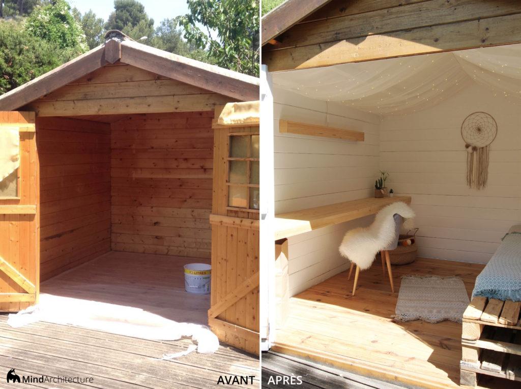 Abri de jardin boheme - Avant Apres - Mind Architecture