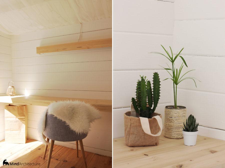 Duo photos abri jardin bohème - bureau - Mind architecture