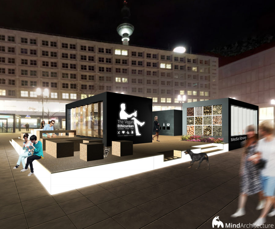 AC CA Berlin - The Vegan Ethicurean by night - Mind Architecture