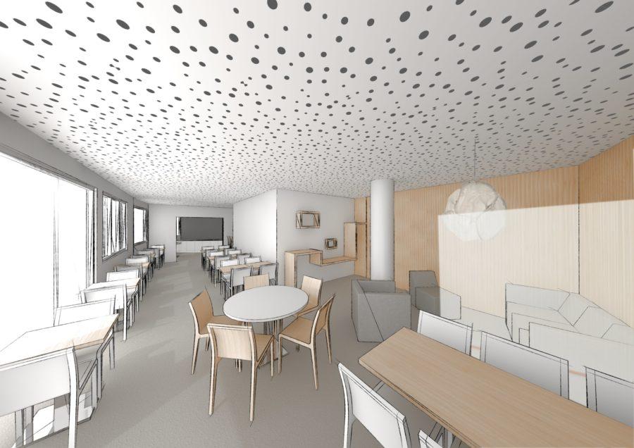 Salle de petit-dejeuner Hotel Suisse pers 2 - Mind Architecture