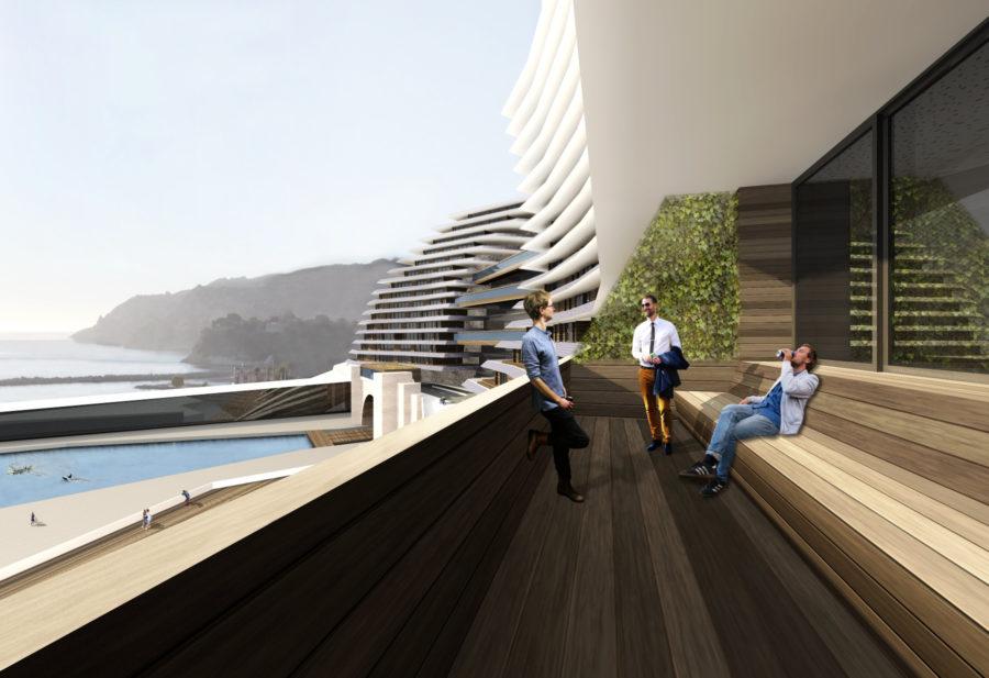 Concours Evolo - Riaux Marseille logements balcons - Mind Architecture