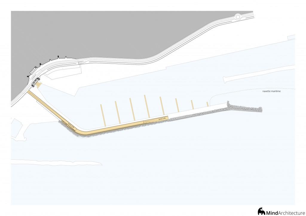 Plan promenade digue