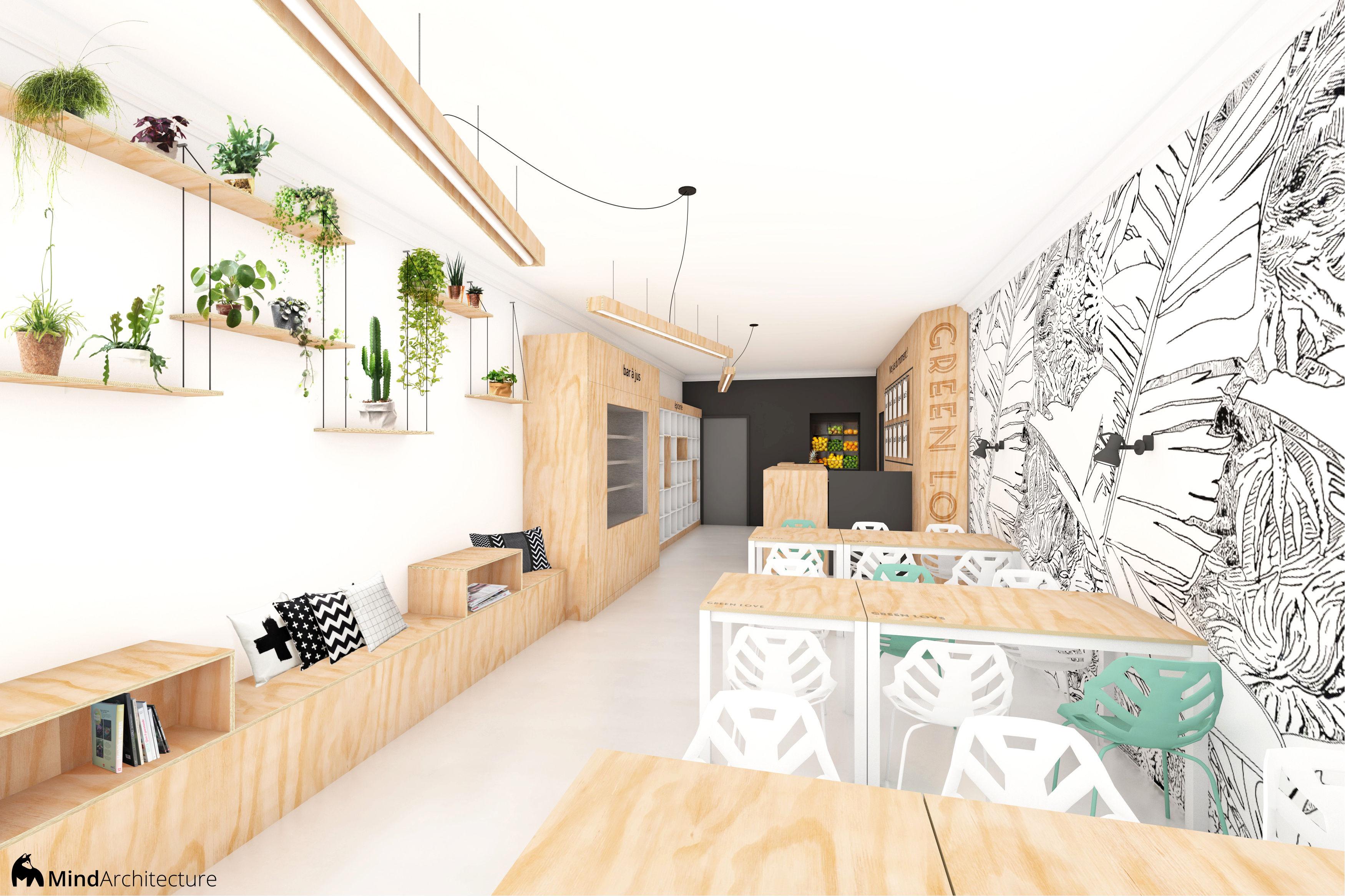 Interieur D Un Bar green love : projet d'architecture d'intérieur pour un bar à