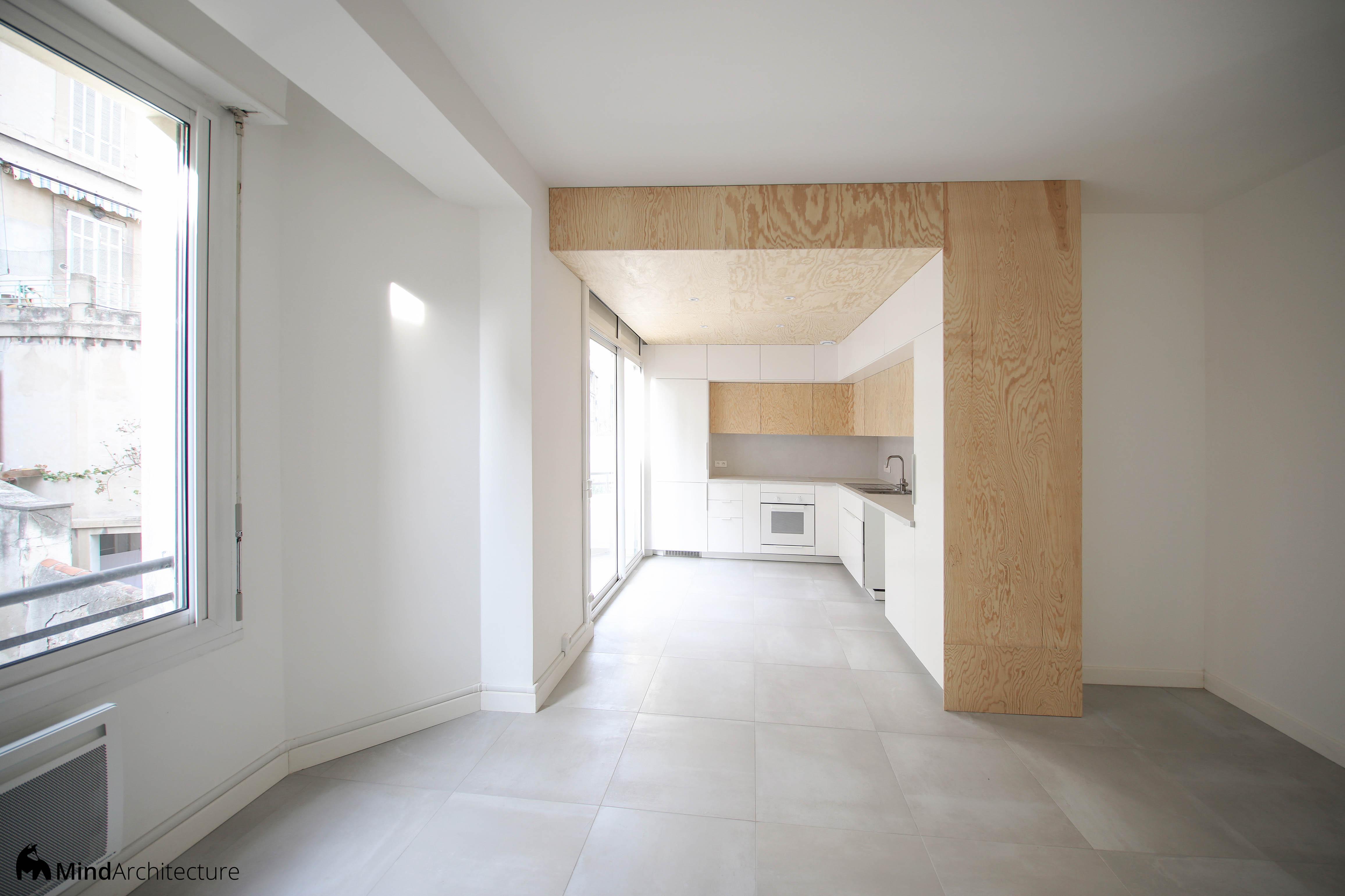 Appartement Blancarde Marseille - salon - Mind Architecture