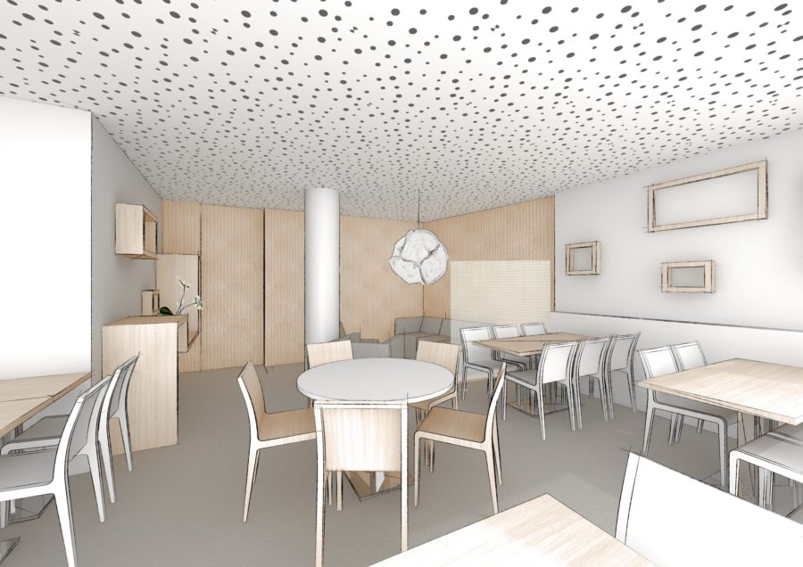 Salle de petit-dejeuner Hotel Suisse pers 1 - Mind Architecture