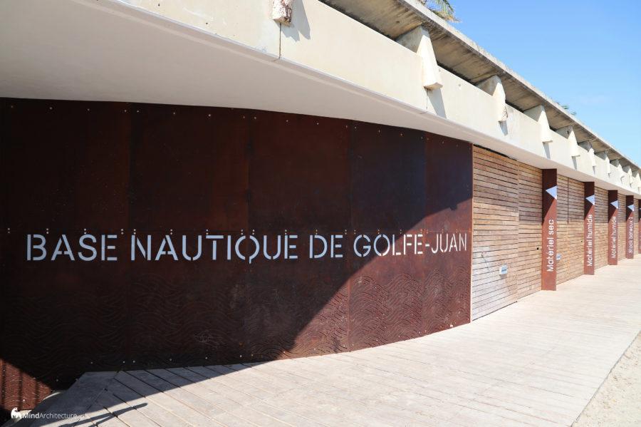 Base nautique Golfe-Juan - Mind Architecture - Photo mur courbe Corten