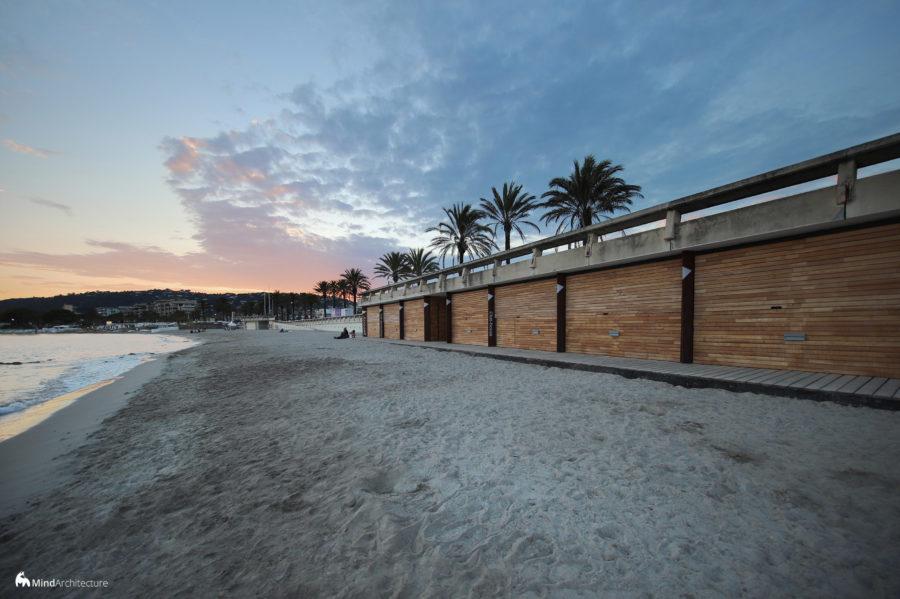 Base nautique Golfe-Juan - Mind Architecture - Photo volets fermés