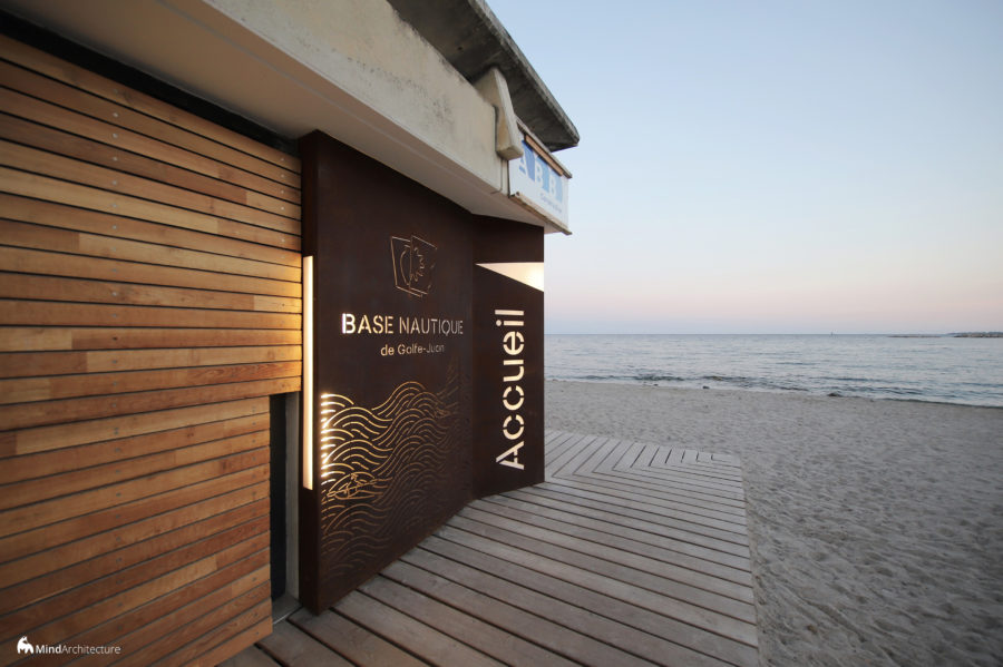 Base nautique Golfe-Juan - Mind Architecture - Photo entrée