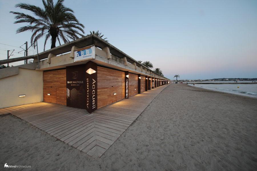 Base nautique Golfe-Juan - Mind Architecture - Photo générale nuit
