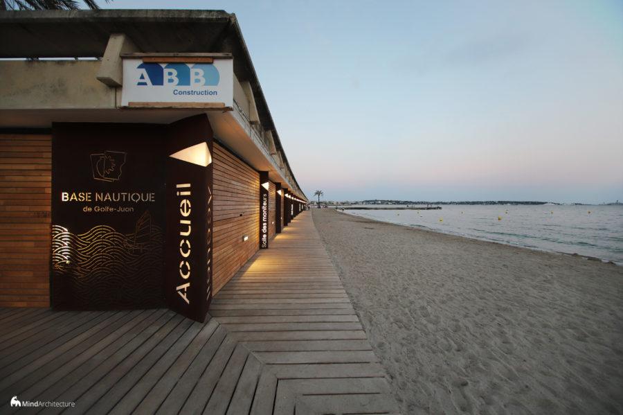 Base nautique Golfe-Juan - Mind Architecture - Photo accueil nuit